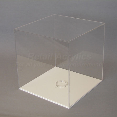 football display case with white base
